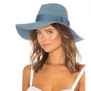 Brixton Piper floppy fedora hat in Smoke Blue